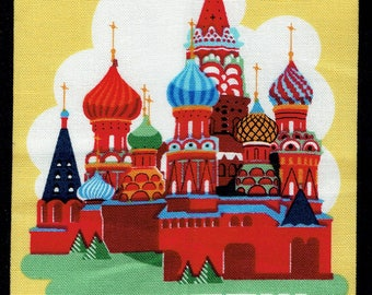 """FUSIBLE APPLIQUE pattern capital """"Moscow"""""""