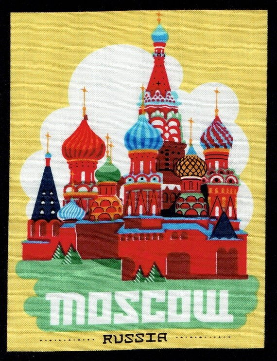 "FUSIBLE APPLIQUE pattern capital ""Moscow"""