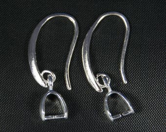 Earring and pendant ring in 925 Silver, 28 * 0.6 * 2.1 mm, the pair