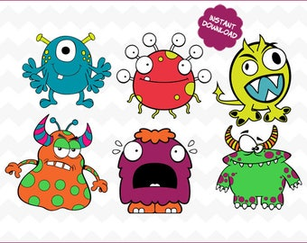Monster svg,halloween svg, silly monster svg, svg silly monster, silly monsters svg, halloween svg, halloween Silhouette, halloween Vector