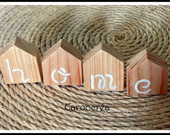 Small decorative houses Scandinavian style wooden