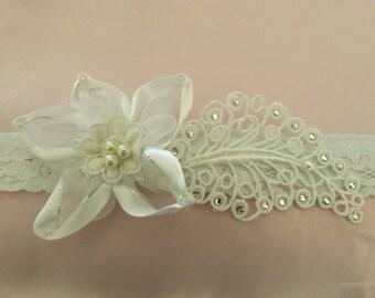 leaf rhinestone and star flower baby headband