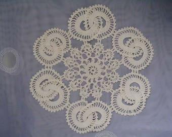 "Two NEW hand crochet doilies 22 cm/ 9"" in diameter"