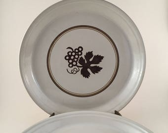Ben Seibel Mikasa Vineyard Dinner Plates, Vintage Midcentury Dishes Set of 4, Mikasa Dinner Plate in Vineyard by Designer Ben Seibel