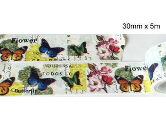 Washi tape (washi) - colorful butterflies