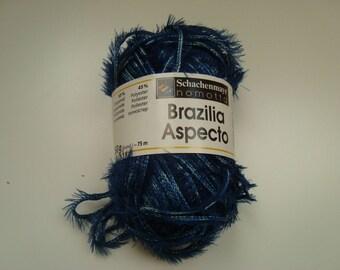 Laine BRAZILIA ASPECTO de Schachenmayr 50 g - Bleu - Aiguilles 4,5 - 5,5 - Polyamide et polyester