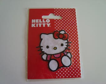 Applique patch Thermo-HELLO KITTY red and white 6 x 5 cm