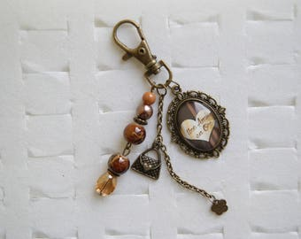 "Bag charm ""a friend in gold"""