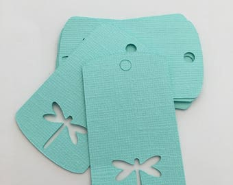 Dragonfly Gift Tags- Mint