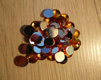orange cabochon 8 mm color set