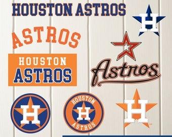 INSTANT DOWNLOAD-Houston Astros SVG,Houston Astros Cut Files,Houston Astros Dxf,Houston Astros Baseball Clipart