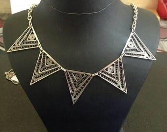 Silver filigree necklaces
