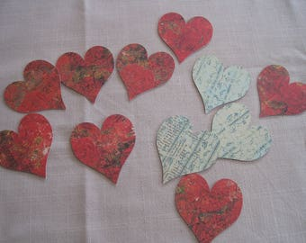 Heart, shabby, cuts, tags, embellishments, scrapbooking