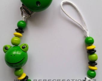 Personalized pacifier Green Frog
