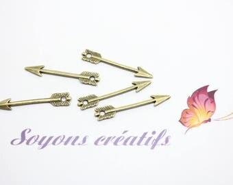 20 29x5mm SC31130 Bronze arrowhead Charm pendant-