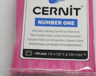Polymer clay CERNIT Number One color-raspberry - 56 Gr
