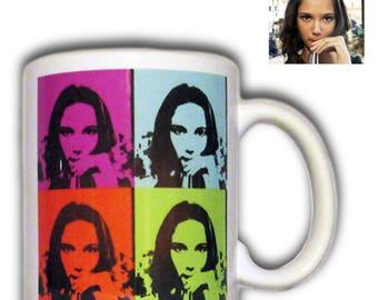 Personalized mug art pop art