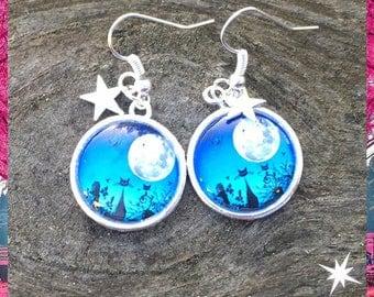 Meow in the Moonlight earrings