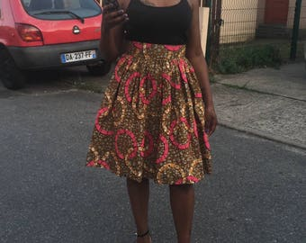 Midi skirt high waist wax