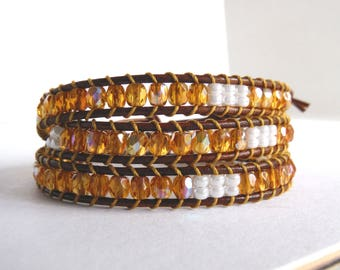 Amber chan luu bracelet type