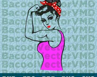 Rosie SVG - Rosie DXF - Rosie Fight - Like A Girl - Fight Like A Girl - SVG Files For Silhouette - Files For Cricut - Cuttable design