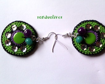 ronduolives: colorful and original earrings
