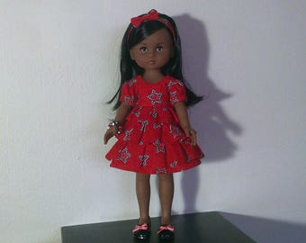 Pretty red dress with Ruffles