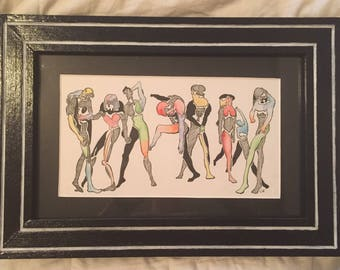 Colorful Dance Party Drawing