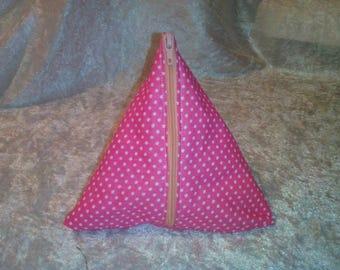 Clutch/wallet box pink polka dots