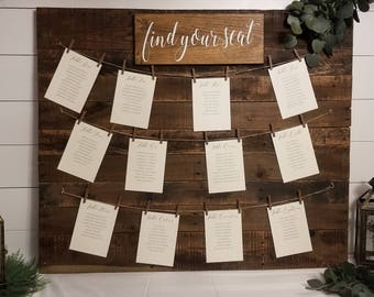 Find Your Seat Wood Sign | Wedding Seating Chart (Local Delivery or Pick-up Only)