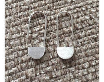 Textured Sterling Silver Modernist Handmade Earrings