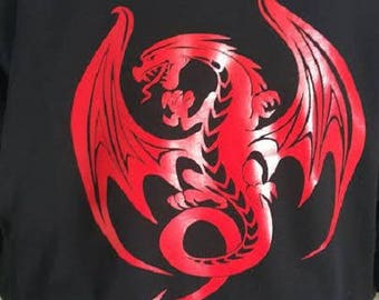 Red DRAGON man SWEATSHIRT
