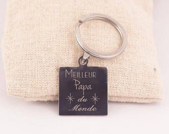 Best dad Keychain - Key chain personalized engraved father's day, celebrate dads
