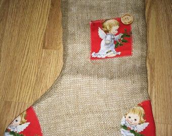 Christmas baby angel stocking