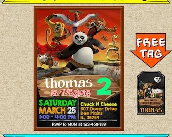 EDITABLE Kung Fu Panda Invitations, Kung Fu Panda Birthday, Kung Fu Panda Party, Kung Fu Panda Birthday Invitation, Kung Fu Panda Printable