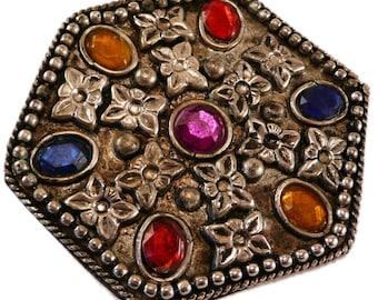 Antique octagonal brooch