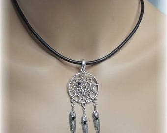 "Black dream dreams ""dreamcatcher"" necklace"