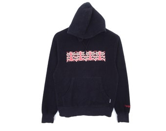 Keith Haring Spellout Embroidery Sweater Hoodie Fleece