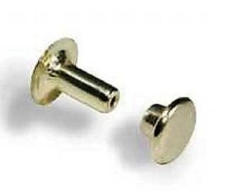 small open nickeled/100 tack rivets
