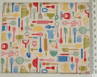 Fabric - Retro Bake 05 - Makower kitchen vintage