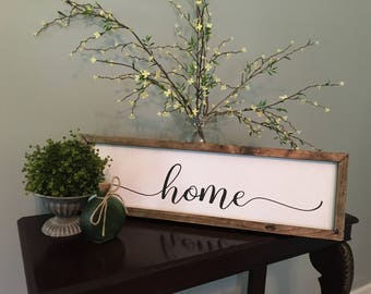 Wood sign- Home
