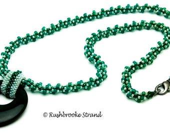 Teal Donut necklace
