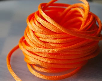 5 meters of rat tail cord orange 2.5 mm