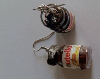 jar of nutella earrings