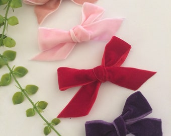 Suede ribbon bows