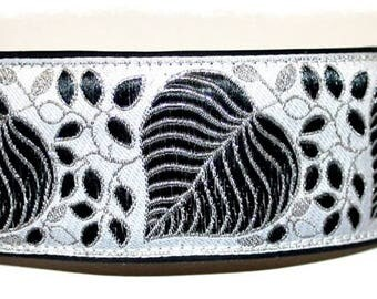 Dog collar #Winter leaves# Jacquard ribbon in unique style for Pet Jewellery and accessories