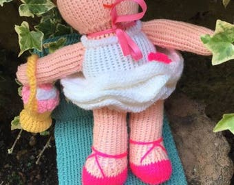 Knitted Ballerina, Knitted toys, Jean Greenhowe designs, Jean Greenhowe