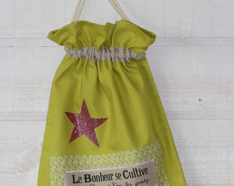 Lingerie bag / pouch (number 158) lime green