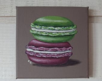 Painting painting macaroon (taupe background)