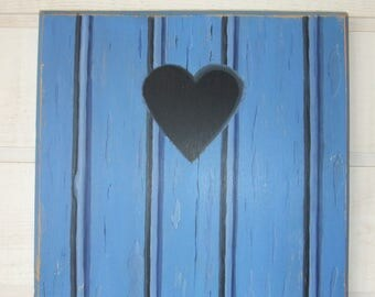 Painting painting Palisade blue heart